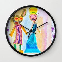 Masqueraders Wall Clock