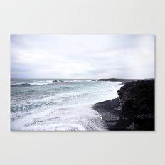 black beaches Canvas Print