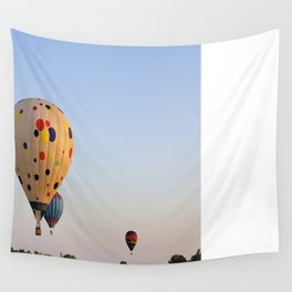Three Colorful Hot Air Balloon Wall Tapestry