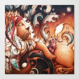 Hippy Lion Canvas Print