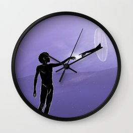 Crown Chakra. Wall Clock