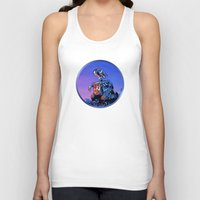 wall e Tank Tops featuring WALL-E (Painting Style) by ElvisTR