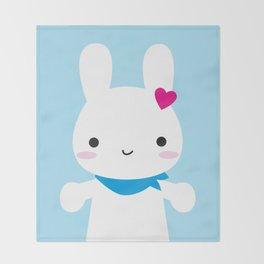 Super Cute Kawaii Bunny Throw Blanket