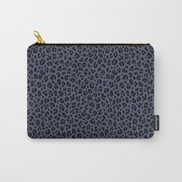 BRUT DENIM LEOPARD PRINT – Indigo Blue | Collection : Punk Rock Animal Prints. Carry-All Pouch