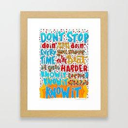 Don't Stop Lyricart Framed Art Print