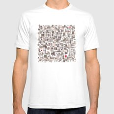 Mapping home 3 Mens Fitted Tee White SMALL