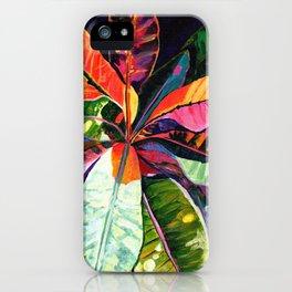 Kauai Croton Leaves iPhone Case