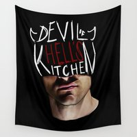 netflix Wall Tapestries featuring The Devil of Hell's Kitchen by Stephanie Wu