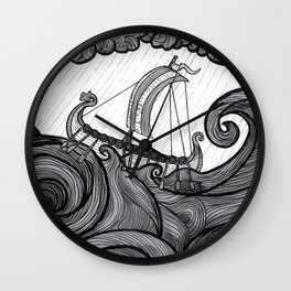 Rough Waters Wall Clock