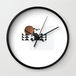 House in the woods Wall Clock