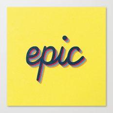 Epic - yellow version Canvas Print