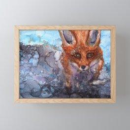 The Silent Fox Framed Mini Art Print