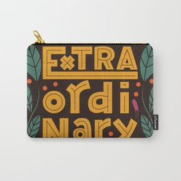 Extraordinary word, hand lettering typography modern poster design, vector illustration Carry-All Pouch