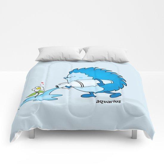funny zodiac/aquarius Comforters