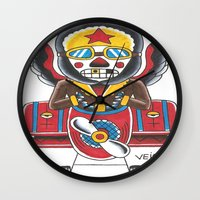 airplane Wall Clocks featuring Airplane by @VEIGATATTOOER