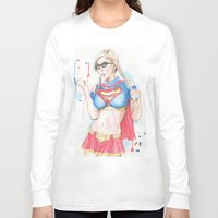 supergirl Long Sleeve T-shirts featuring Supergirl by James Murlin