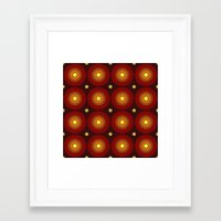 brown Framed Art Prints featuring brown by sustici
