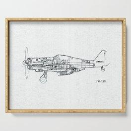 FW - 190 ( B & W) Serving Tray