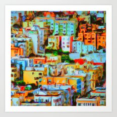 San Francisco Hilltop Art Print