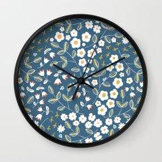 Ditsy Blue Wall Clock