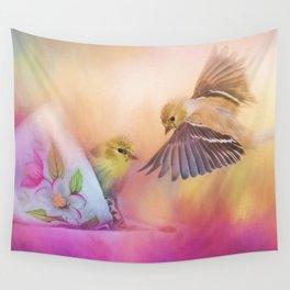 Raiding The Teacup - Songbird Art Wall Tapestry