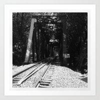Train tracks to Paradise Art Print