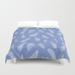 White feathers pattern Duvet Cover