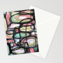 Abstract Ellipsis Stationery Cards