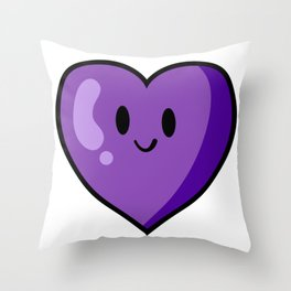 Purple Heart (Valentines Edition) Throw Pillow