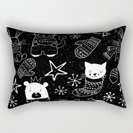 Merry Christmas-Simple X-mas Fun Doodle-Mix and Match with Simplicity of Life Rectangular Pillow