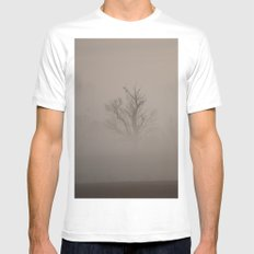 Two Hawks and a Morning Haze White MEDIUM Mens Fitted Tee