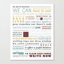 Writer's Manifesto from Original Impulse Canvas Print