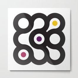Circles 3x3 #2 Metal Print