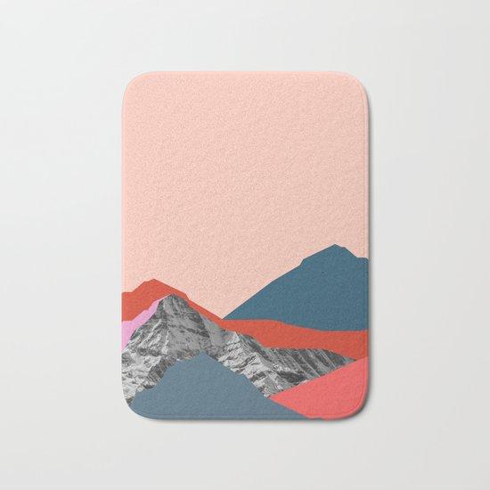 Graphic Mountains Bath Mat
