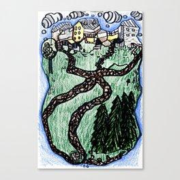 Town Paths Canvas Print