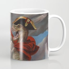 T. Rex Crossing the Alps Coffee Mug