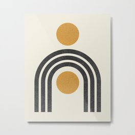 Mid century modern - arch suns Metal Print