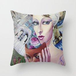 Lady Europe Throw Pillow