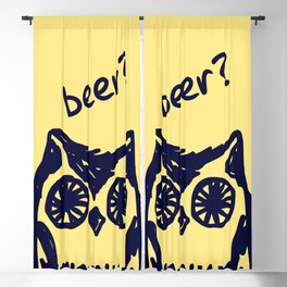 Beer? Who said beer? Thirsty owl print Blackout Curtain