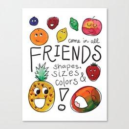 Diverse Fruit Friends Canvas Print