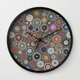 pango mandala truffle Wall Clock