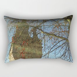 Old Tower And Leafless Branches Rectangular Pillow