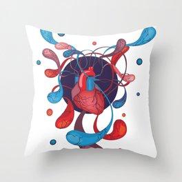 The Bass Heart Throw Pillow
