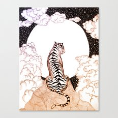 Tiger Moon Glow Canvas Print