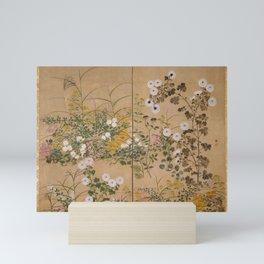 Ogata Korin - Flowering Plants in Autumn (1710) Mini Art Print