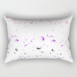 Dandelion Seeds Genderfluid Pride (white background) Rectangular Pillow