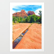 Excerpt From a Day at Red Rock Crossing Art Print
