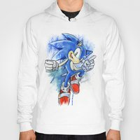 sonic Hoodies featuring Sonic by Luke Jonathon Fielding