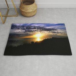 Sunrise over Port Philip Bay - Melbourne Rug