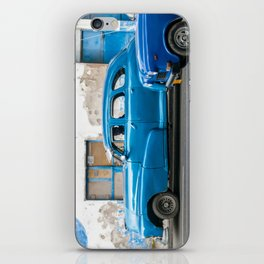 Vintage Blue Cars iPhone Skin